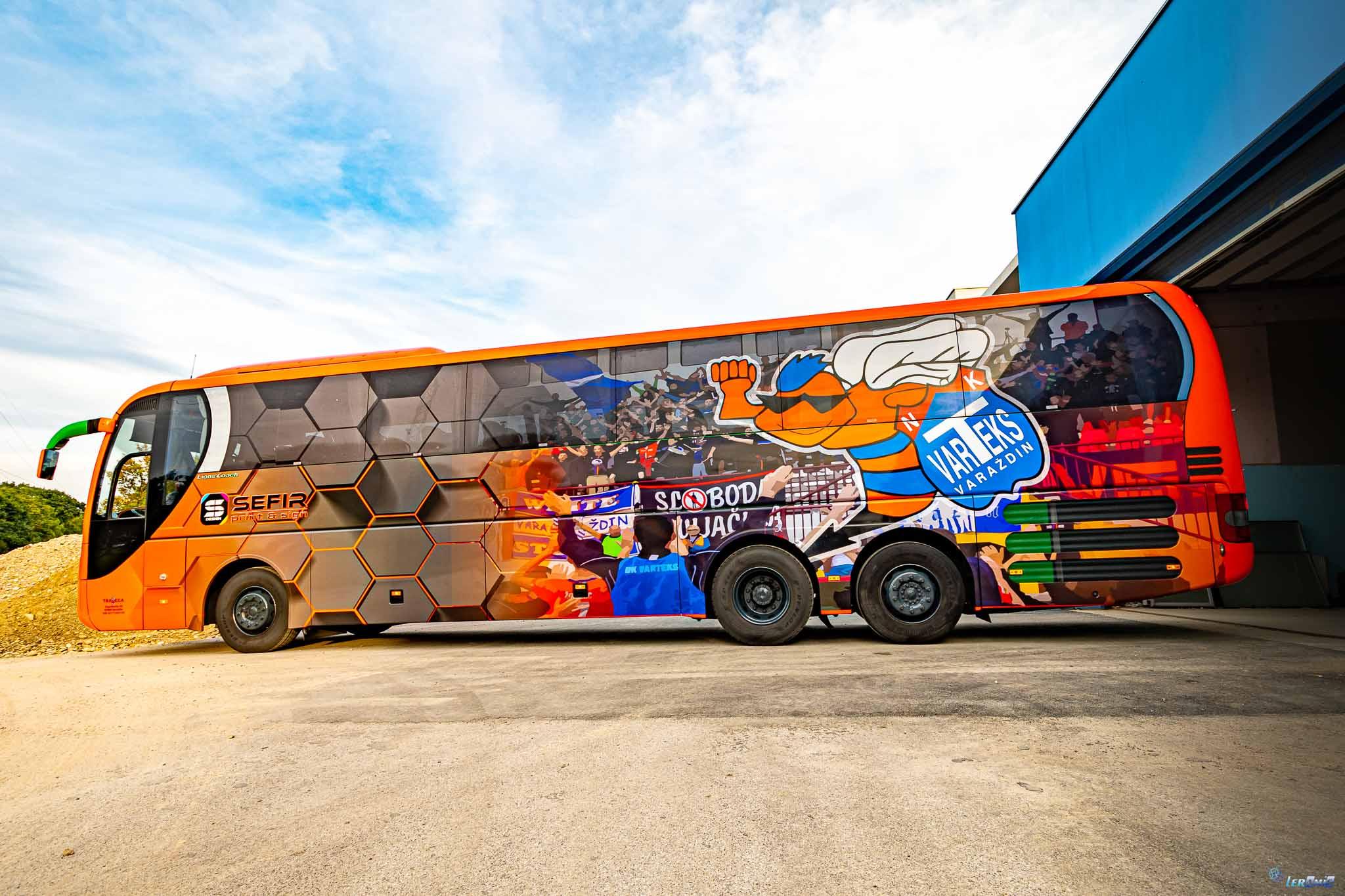 Oslikavanje autobusa NK Varteks, Varaždin
