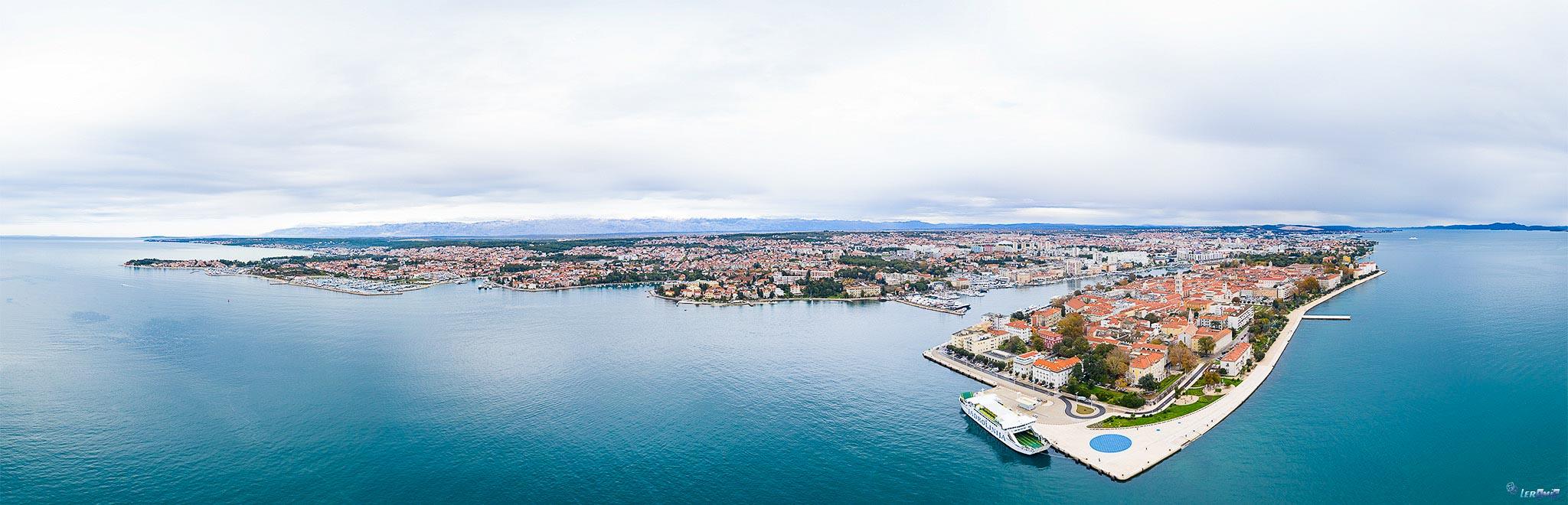 Snimanje iz zraka, Zadar
