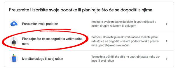 google podaci